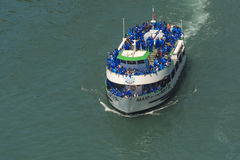Niagara Falls and the Maid of the Mist. The Maid of the Mist carries passengers to the base of the Horseshoe Falls, part of the Niagara Falls in Ontario, Canada Stock Images