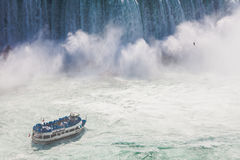 Niagara Falls and Maid of the Mist Tour Boat Stock Photos