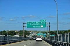 Niagara Falls many Exit Signs Royalty Free Stock Image