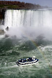 Niagara Falls met Regenboog stock foto