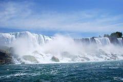 Niagara Falls Mist in New York, USA. Beautiful Niagara Falls Mist and Sea Gulls in New York, USA Royalty Free Stock Photos