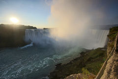Niagara falls. In the morning royalty free stock image