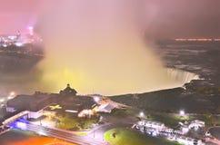 Niagara Falls na noite Fotos de Stock Royalty Free