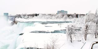 Niagara Falls, New York. Frozen Stock Photo