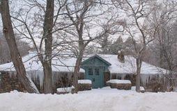 Niagara Falls, New York. Frozen House On Goat Island Royalty Free Stock Photo
