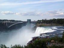 Niagara Falls. New York, July, 25, 2014 Seveval tourists viewing royalty free stock photography