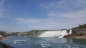 Niagara falls tainbow landscape blue water stock photos