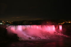 Niagara Falls at Night. Niagara Falls from the Canadian side royalty free stock photos