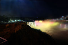 Niagara Falls at Night Royalty Free Stock Photos