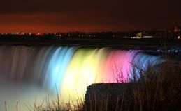 Niagara Falls at Night Royalty Free Stock Images