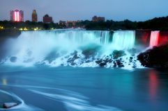 Niagara Falls at night Royalty Free Stock Image