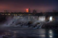 Niagara falls at night. Night view of the Niagara falls Royalty Free Stock Photo