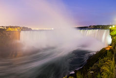 Niagara Falls by Night Stock Photo