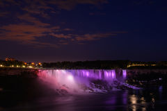 Niagara Falls at night Royalty Free Stock Photography