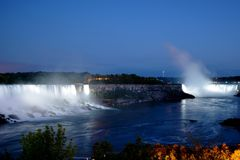 Niagara Falls at night Stock Image