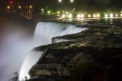 Niagara Falls by night Stock Photos