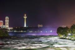 Niagara Falls by night Royalty Free Stock Photos