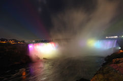 Niagara Falls at night. Taken with DSLR camera - from Canadian side Stock Photography