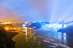 Niagara Falls at night Royalty Free Stock Photo