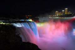 Niagara Falls Nightview Fotografia Stock Libera da Diritti
