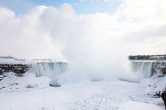 Niagara Falls no inverno Fotos de Stock Royalty Free