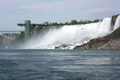 Niagara Falls Observation Tower and the Falls Stock Image
