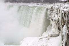 Niagara Falls, is och snö, vinter arkivbild