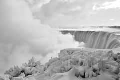 Niagara Falls, is och snö, vinter 3 royaltyfri foto