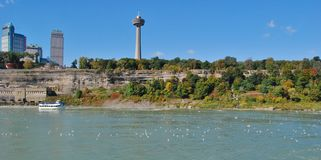 Skylon Tower, and Maid of the Mist boat tour Stock Image