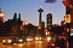 Skylon Tower Night Scene Stock Photos