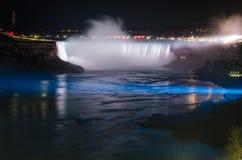 Niagara falls ontario canada horse shoe falls night Stock Images