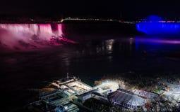 Niagara falls ontario canada horse shoe falls night Royalty Free Stock Photos