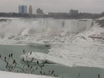 Niagara Falls Ontario Kanada i vintern royaltyfria bilder