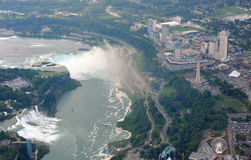 Niagara Falls in overcast day Stock Image