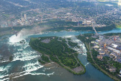 Niagara Falls in overcast day Royalty Free Stock Photo