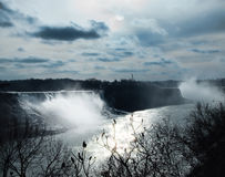 Niagara Falls på nattetid Royaltyfri Bild