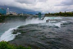 Niagara Falls på USA sidan Arkivbild