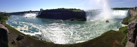 Niagara Falls panorâmico Imagens de Stock