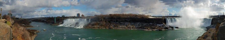 Niagara Falls Panorama. Panorama of Niagara Falls from Canadian bank Royalty Free Stock Photography