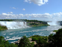 Niagara Falls panorama. American Falls and Horseshoe Falls on Niagara river Stock Photography