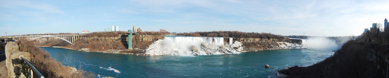 Niagara Falls panorama Royalty Free Stock Image