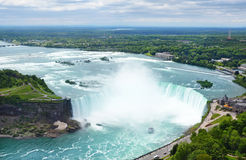 Niagara Falls. A panoramic view of Niagara Falls Canada royalty free stock photos