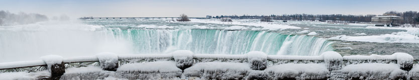 Niagara Falls panoramic winter Royalty Free Stock Photos