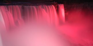 Niagara Falls in pink Royalty Free Stock Images