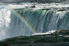 Niagara Falls rainbow Stock Photo