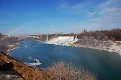 Niagara Falls and rainbow Stock Images