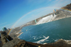 Niagara Falls and rainbow Stock Photography