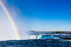 Niagara Falls with Rainbow Stock Images