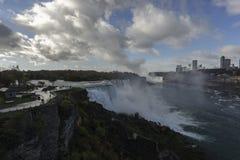 Niagara Falls 7. Niagara Falls.Rare wonderful creation of nature vodopad.Granitsa US and Canada Royalty Free Stock Photos