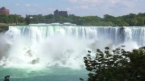 Niagara Falls, scenes of the flowing water stock video footage